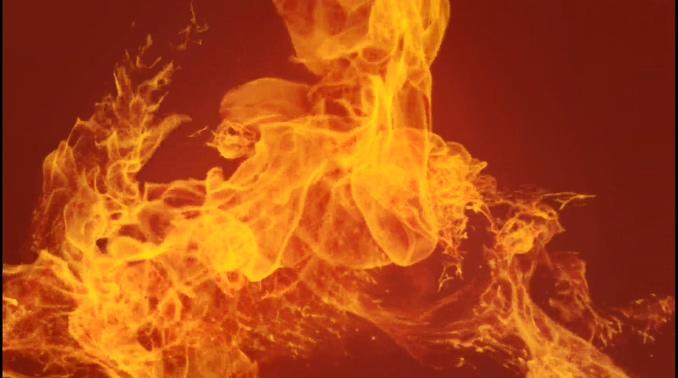 大气的金色火焰跳舞的视频素材