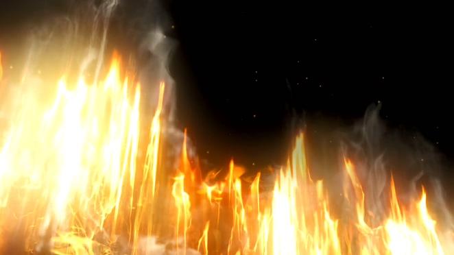 熊熊大火快速燃烧的视频素材