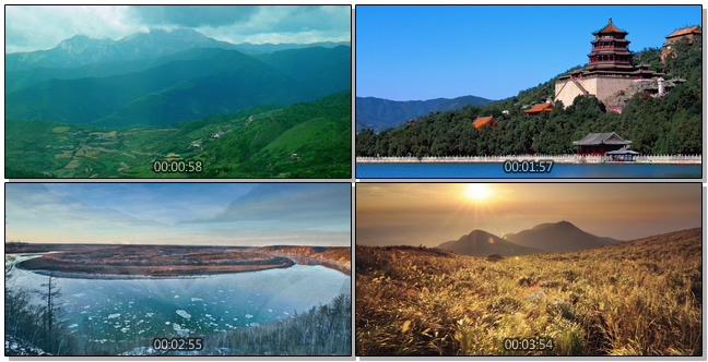 航拍祖国壮丽山河美好生活的视频素材