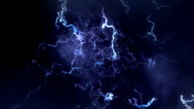 唯美梦幻的紫色电流视频素材