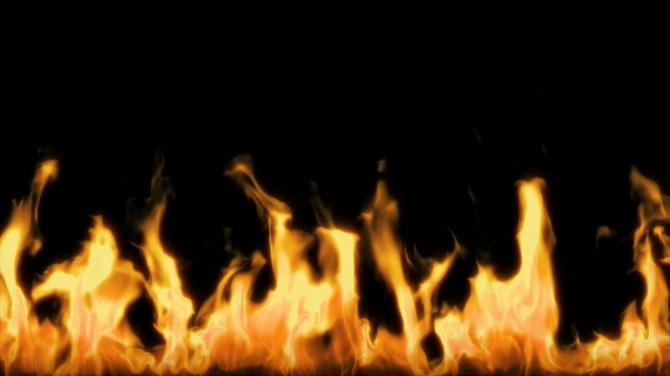 黑白火焰激情燃烧的视频素材