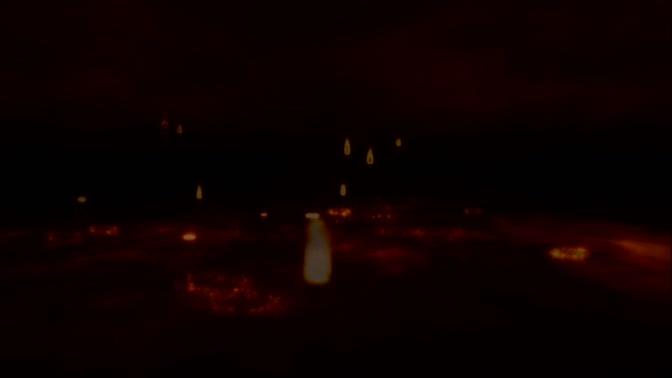 各种形状和位置下的大火燃烧视频素材