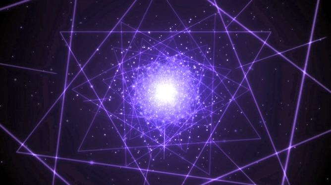紫色激光几何图形视频素材