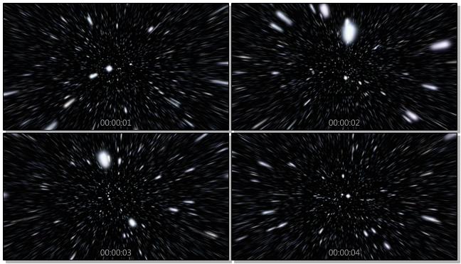 白色粒子从远方迅速飘来的视频素材