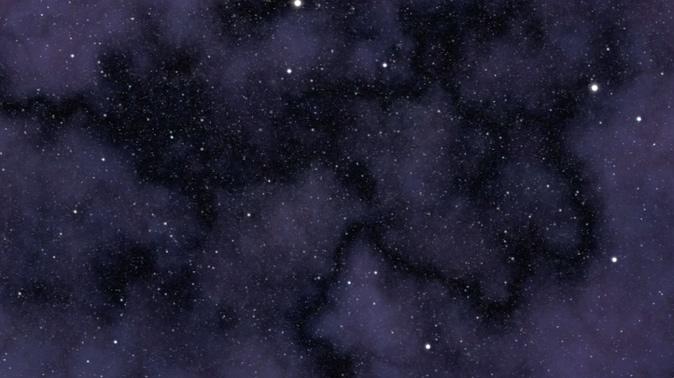 唯美梦幻的紫色星空星星移动视频素材