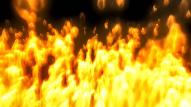 大火直立燃烧的视频素材