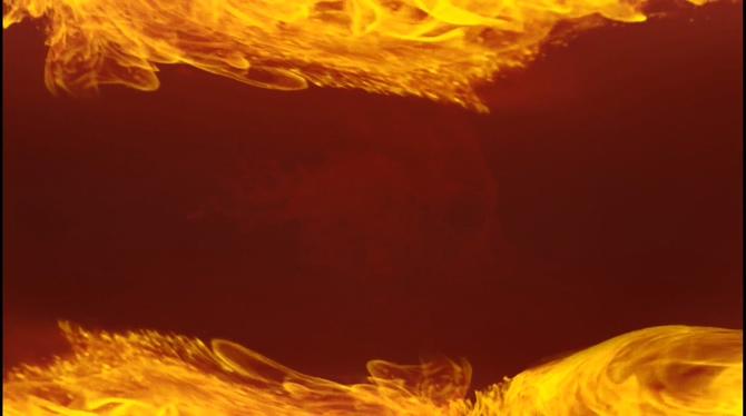 大气的金色火焰燃烧视频素材
