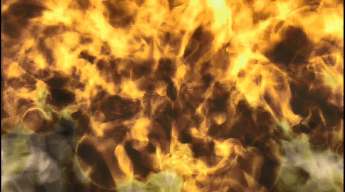 大火烧出滚滚浓烟的视频素材