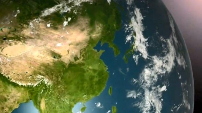震撼大气的祖国江山视频素材