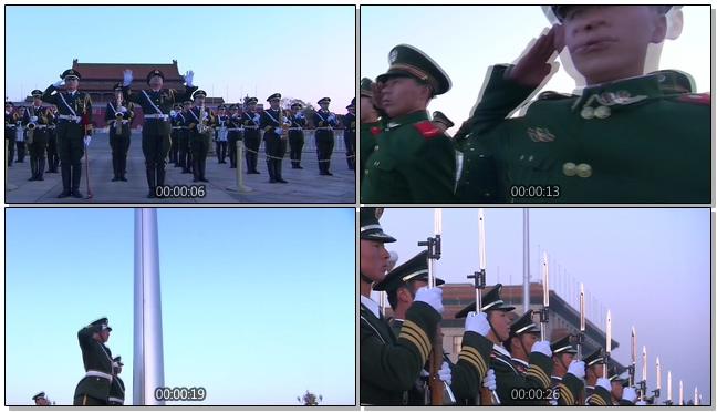 庄严神圣的天安门升国旗仪式视频素材