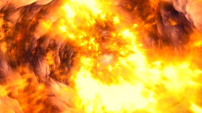 气势磅礴的熊熊大火视频素材