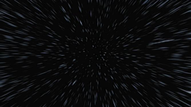 唯美的白色粒子从远方迅速飘来的视频素材