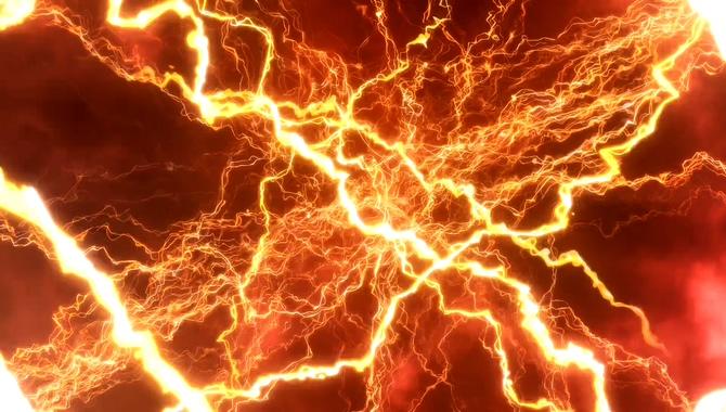 激情燃烧的金色电流火花视频素材