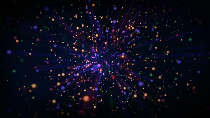 放射彩色光点粒子视频素材