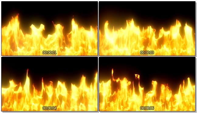 火焰燃烧似跳舞的视频素材