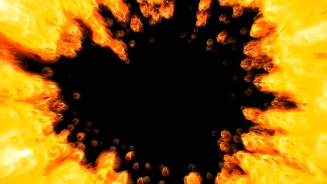 气势磅礴的火焰燃烧视频素材