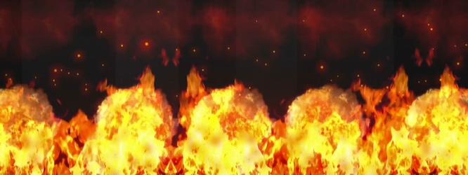火焰燃烧形成蘑菇云的视频素材