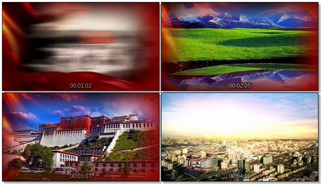震撼大气的中国历史发展变化视频素材