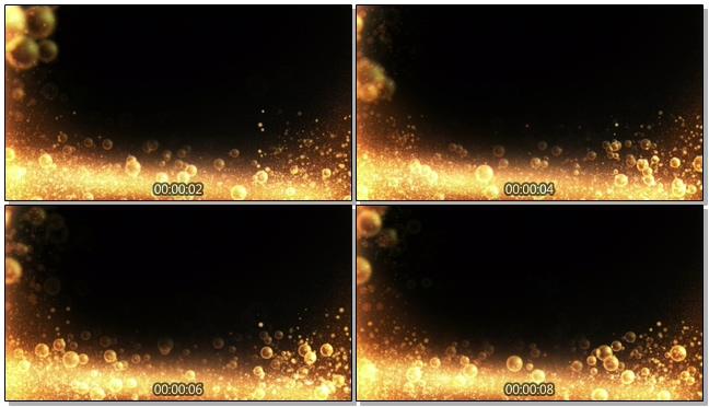 金色气泡粒子庆典视频素材