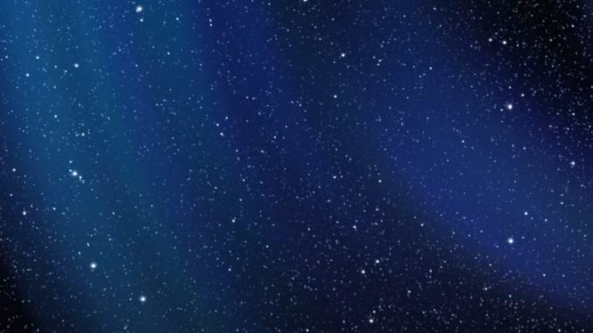 唯美梦幻的蓝色星空粒子飘落视频素材