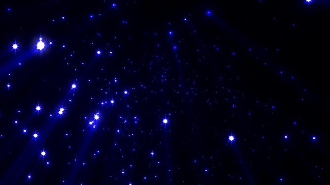 唯美梦幻的蓝色星光粒子下落视频素材