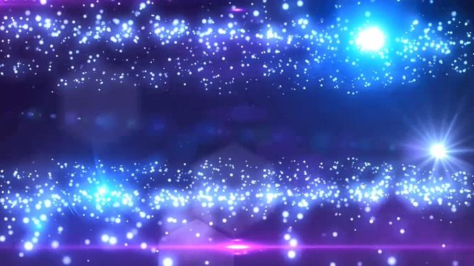 浪漫的星空粒子晚会婚庆开场视频素材