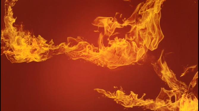 火焰如在跳舞的视频素材