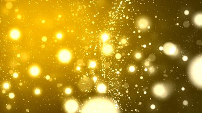 金色光点粒子视频素材