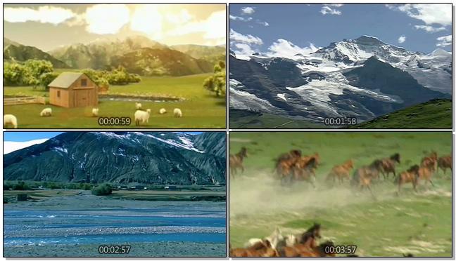 唯美梦幻的自然美景记录视频素材
