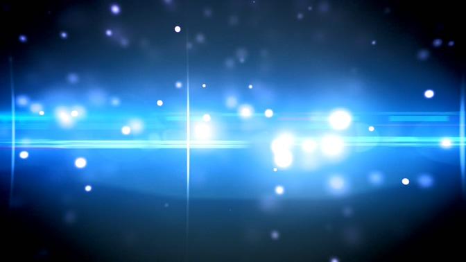 蓝色唯美光晕背景视频素材
