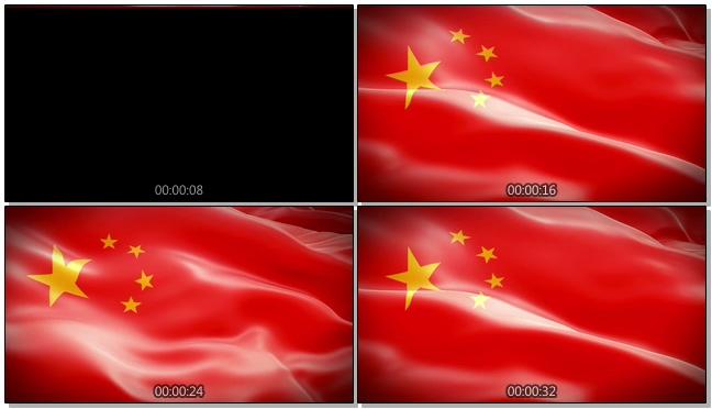 五星红旗迎风飘扬的视频素材