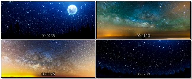 浪漫唯美的满天繁星闪烁视频素材