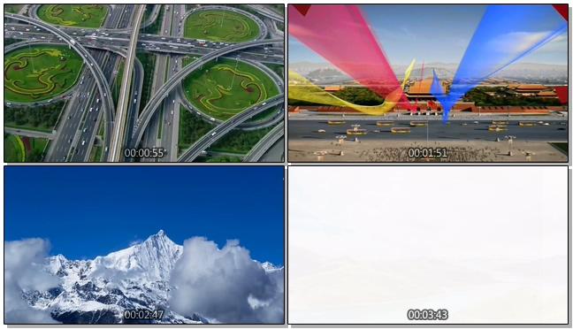 航拍中国快速发展的视频素材