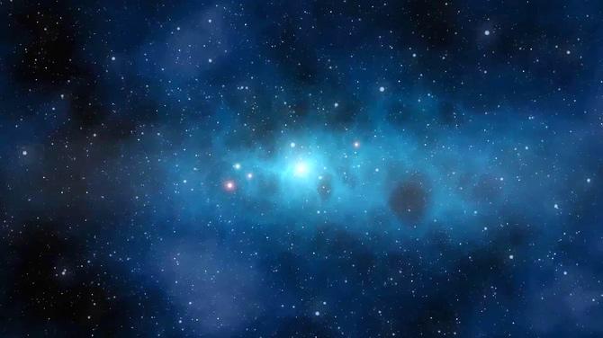 唯美梦幻的宇宙星空粒子闪烁视频素材