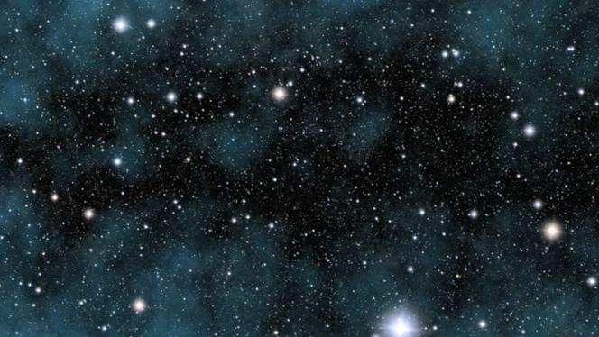 震撼唯美的夜晚星空粒子闪烁视频素材
