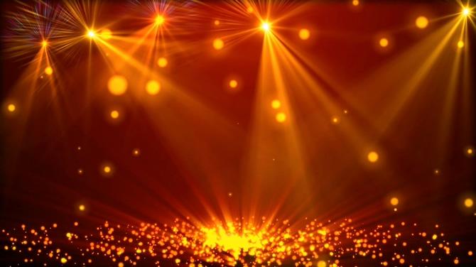 金色聚光灯视频素材