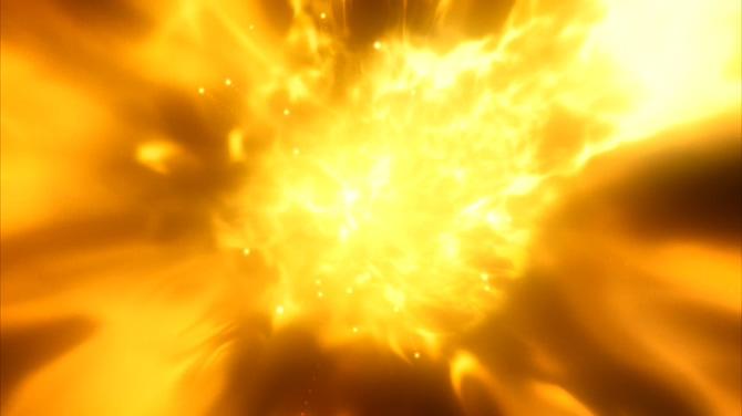 大火烧出金色粒子的视频素材