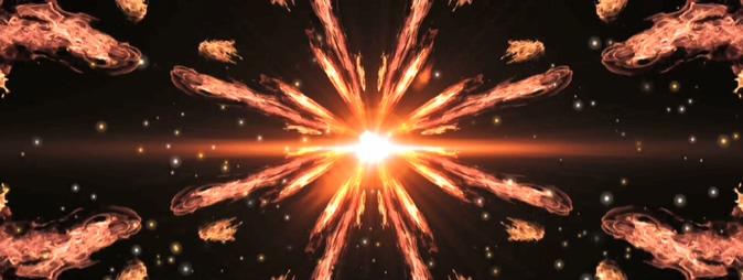 震撼大气的火焰形成一道光线的视频素材
