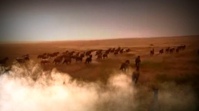 气势磅礴的保卫黄河视频素材