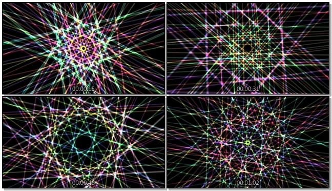 快节奏光效线条音乐视频素材