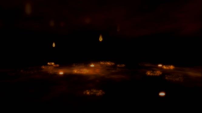 火点从天而降的视频素材