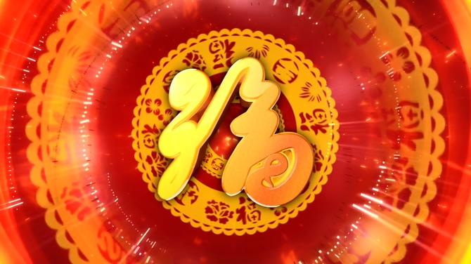 幸福喜庆的中国结新年晚会开场视频素材