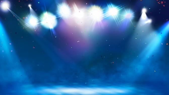 蓝色舞台灯光视频素材