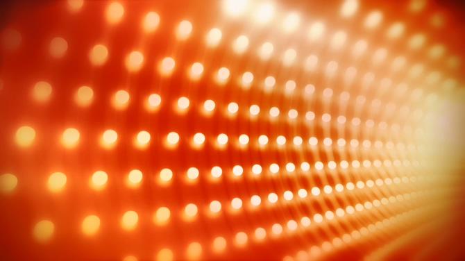 旋转光点灯光秀视频素材