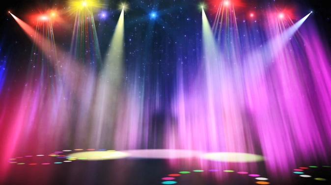 舞台灯光秀光芒聚光灯射灯视频素材