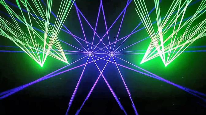 绿色极品激光秀音乐灯光模板