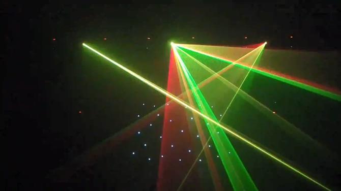 光线发射动感音乐万花筒模板