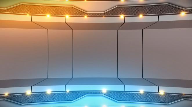 科技三维灯光视频素材