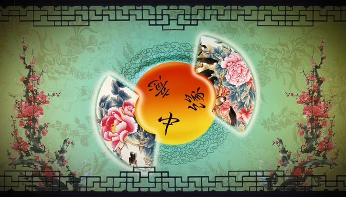 古典唯美的梅花折扇戏曲视频素材