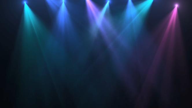 暗色系舞台灯光视频素材
